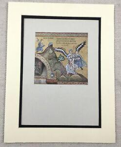 1929-Antique-Print-Palermo-Italian-Byzantine-Mosaic-Jacob-Wrestling-the-Angel