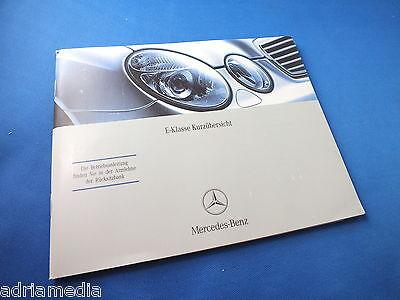 Mercedes W211 E-Klasse Kurzübersicht Bedienungsanleitung Betriebsanleitung 2007