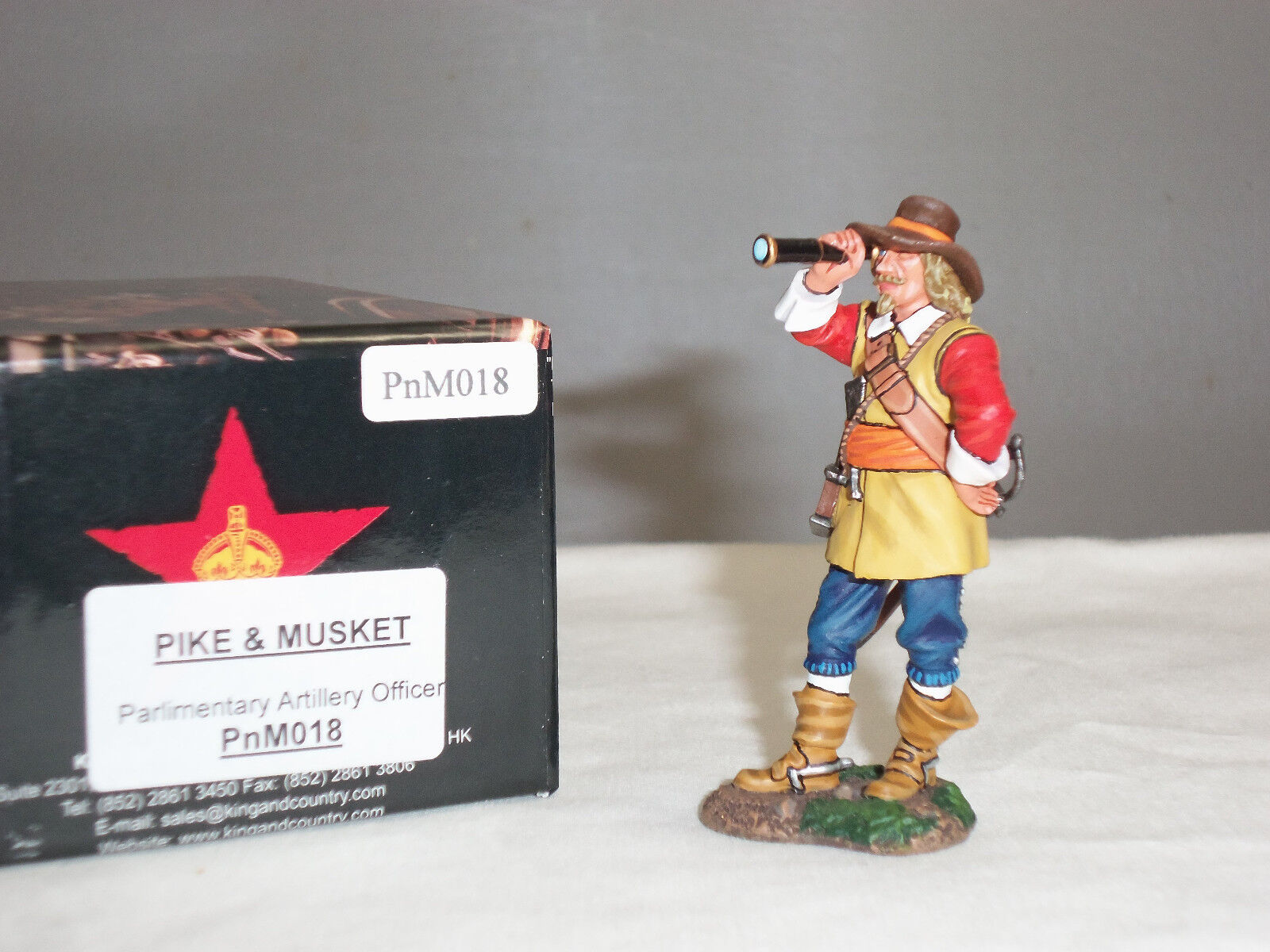 KING AND COUNTRY PNM018 PARLIAMENTARY ENGLISH CIVIL WAR ARTILLERY OFFICER