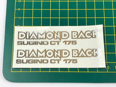 old school bmx decals stickers diamond back sugino ct 175 white on clear pair