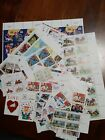 Lot 6 United States MNH blocks, multiples and singles about $94.00 face