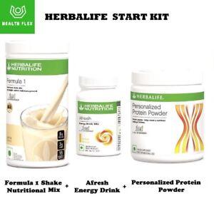 HERBALIFE-START-KIT-Formula-1-Shake-550-gm-Protein-Powder-200-gm-Afresh-50-gm