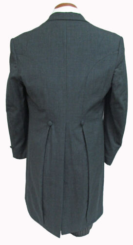 Grey Morning Coat Cutaway Tails Dickens Victorian Costume Frock Damaged Discount