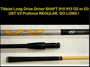 Details about Titleist Long Drive Driver SHAFT 917 915 913 910 UST V2  Proforce R REGULAR