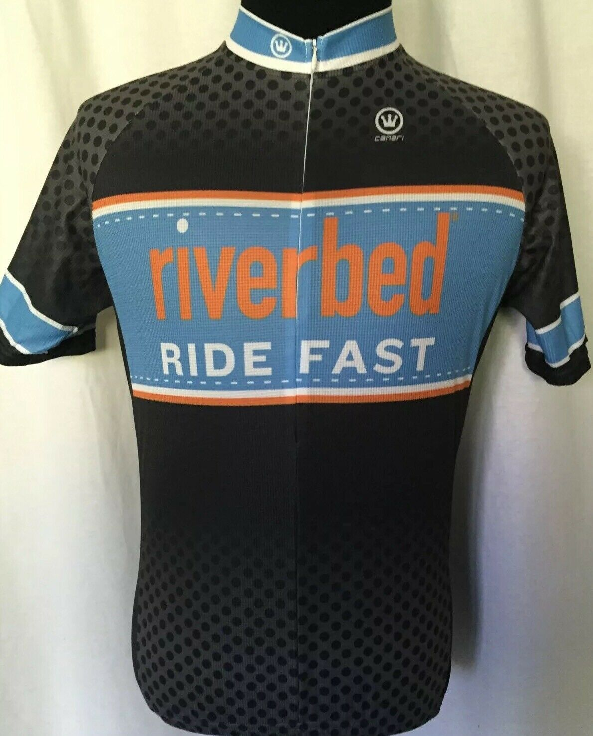 Canari Cycling Jersey Mens XL Extra Large bluee White Riverbed Ride Fast New