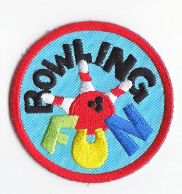 Cub Boy Girl Scout Fun Badge Patch ~ Bowling
