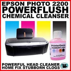 Epson-Stylus-Photo-2200-Cabeza-Limpiador-Boquilla-Limpiador-Desatascador-autoriza-amp-Cabezal-de