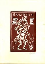 EX-LIBRIS  de A. E. par Leo BROZ. Rép. Tchèque.