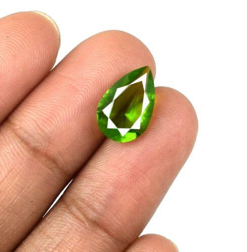 Pakistan Olive Green Peridot 2.30 Ct//12mm Pear Cut Natural Gemstone Certified