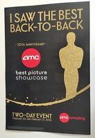 Amc Best Picture Showcase Original Promo Movie Poster 12x18 Oscars Mint Rare