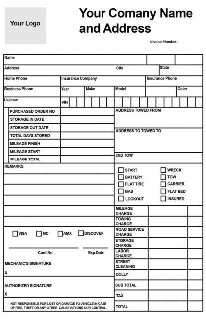 Becks Printing Automotive Multi-Point Inspection Form GEN-INSPECT-100 Pack of 100 2 Part Carbonless Form