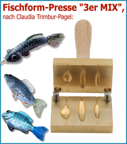 """Forma de pescado-pressse/"""" 3er Mix/""""//después Claudia Trimbur-Pagel"""