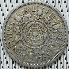 GREAT BRITAIN - 1953 - 2 Shillings Elizabeth II #CALU