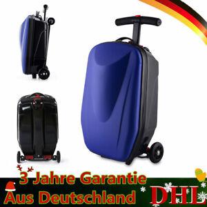 Roller-Mit-Koffer-Erwachsener-Scooter-Reisekoffer-Trolley-Handgepaeck-Tretroller