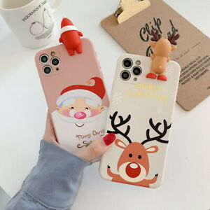For-iPhone-12-11-Pro-Max-XS-XR-7-8-SE-2020-Christmas-Santa-Doll-Soft-Case-Cover