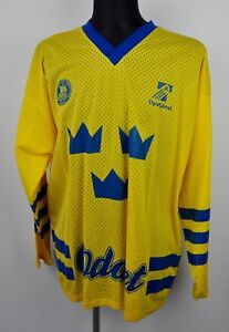 SWEDEN-Ice-Hockey-Team-Vintage-Jersey-L-XL-Size-Swedish-National-Shirt-Large-Top