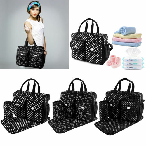3pcs//set Larger Mummy Bag Baby Diaper Bag Mommy Nappy Changing Handbag Tote