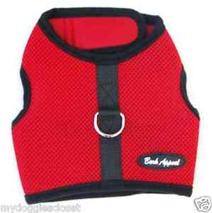 Red Dog Harness Puppy Wrap N Go Mesh 2 Straps Closure No Choke by Bark Appeal
