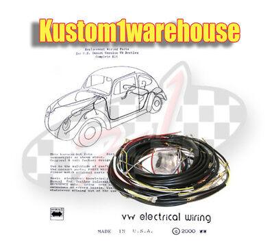 1967 VW Volkswagen Bug Sedan Complete Wiring works Harness wire kit Made in  USA | eBayeBay
