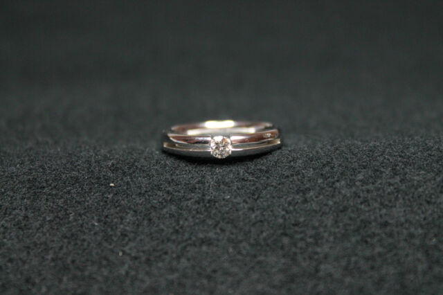 18CT WHITE GOLD RING WITH NATURAL BRILLIANT CUT DIAMONDS!!! 0,20CT!!!