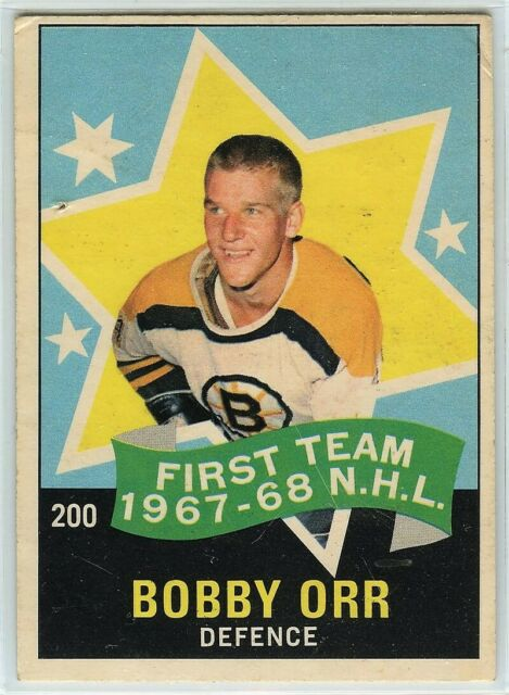 1968-69 OPC Hockey #200 Bobby Orr AS1 F-G Condition (2020-05)