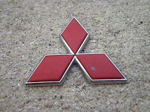 OEM Factory Genuine Stock Mitsubishi red Star rear emblem badge Galant Eclipse