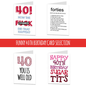 Image Is Loading 40 40th Birthday Card Cards For Men Women