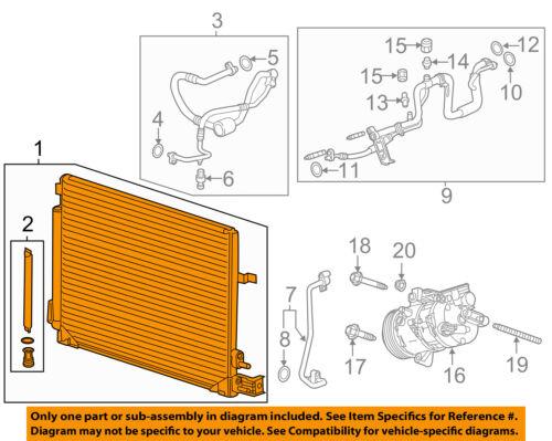 Compressor Line-Condenser 23452331 GM OEM A//C AC Condenser