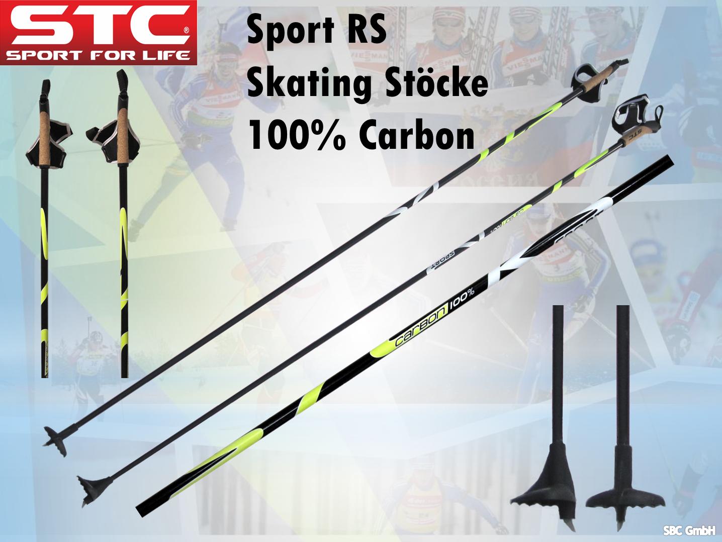 100% Carbon STC Sport RS Langlauf Skating Stöcke