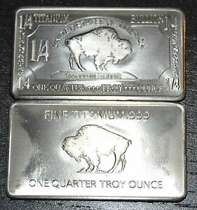 1-4-Unze-Titanbarren-American-Buffalo-Bison-Sammlerstueck-und-Wertanlage