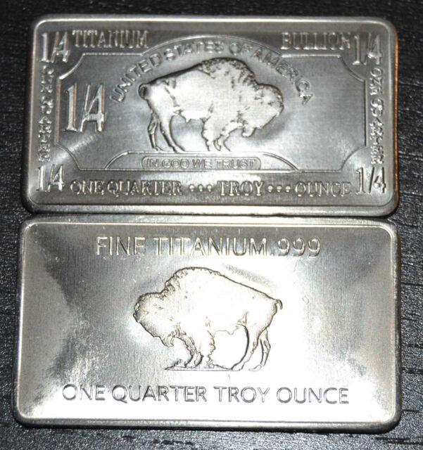 1/4 Unze Titanbarren American Buffalo / Bison / Sammlerstück und Wertanlage