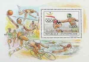 Timbre-Sports-JO-Boxe-Centrafrique-BF103-lot-22832