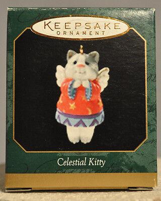 1999 Miniature Ornament Hallmark Celestial Kitty