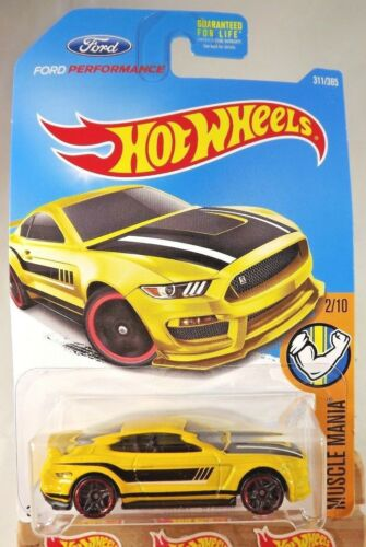 2017 Hot Wheels #311 Muscle Mania 2//10 FORD SHELBY GT350R Yellow w//Black Pr5 Sp