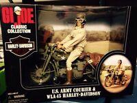 1998 G.I. Joe U.S. Army Courier & WLA 45 Harley Davidson (35th Anniversary)
