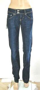 Jeans Donna Pantaloni MET Made in Italy SA070 Gamba Dritta Blu Tg 27