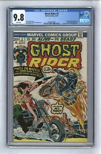 Ghost Rider #3 1973 White Pages 3rd Son of Satan 1st Hellfire Summoning CGC 9.8