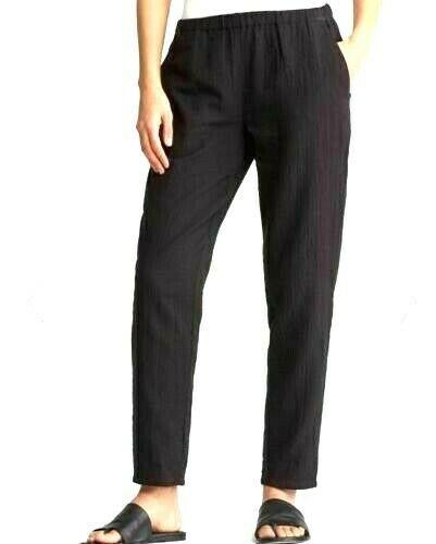 NWT Eileen Fisher ORGANIC COTTON GAUZE SLOUCHY TAPErot  Ankle Pants  2X