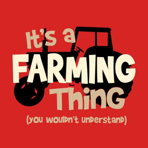 Farm T-shirt S M L XL XXL Farmer It/'s A Farming Thing Cotton Red Tractor