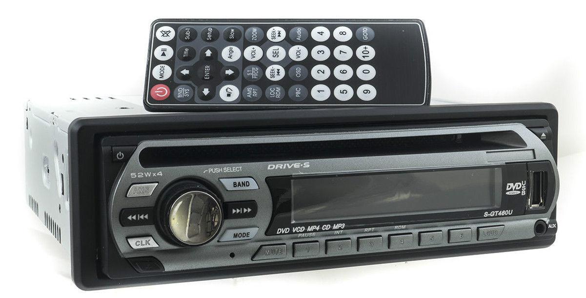 autoradio: AUTORADIO STEREO AUTO RADIO FM MP3 SD USB DVD CD AUX GT460U