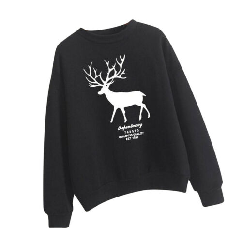 Female hiver Crewneck Sweatshirt plus fragile Pull Hoodie avec