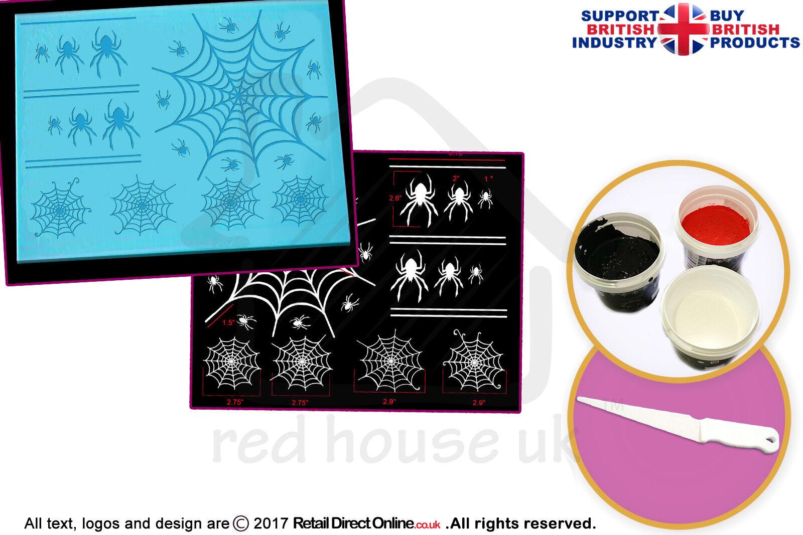 Comestible Gateau Dentelle Starter Kit   3D HD Spider Toile D'araignée Cake Lace Mat