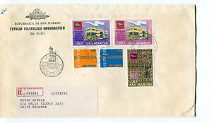 1971 Fdc San Marino Europa Unione Filatelica Ita Raccomandata First Day Cover Ture 100% Garantie