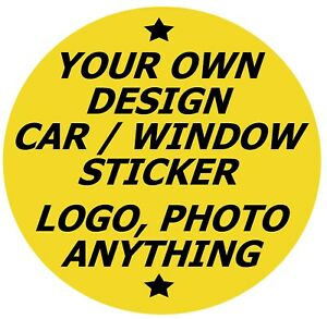 ANY DESIGN CAR / WINDOW INSIDE DECAL / STICKERS + 1 FREE, LOGO, PHOTO / GIFTS