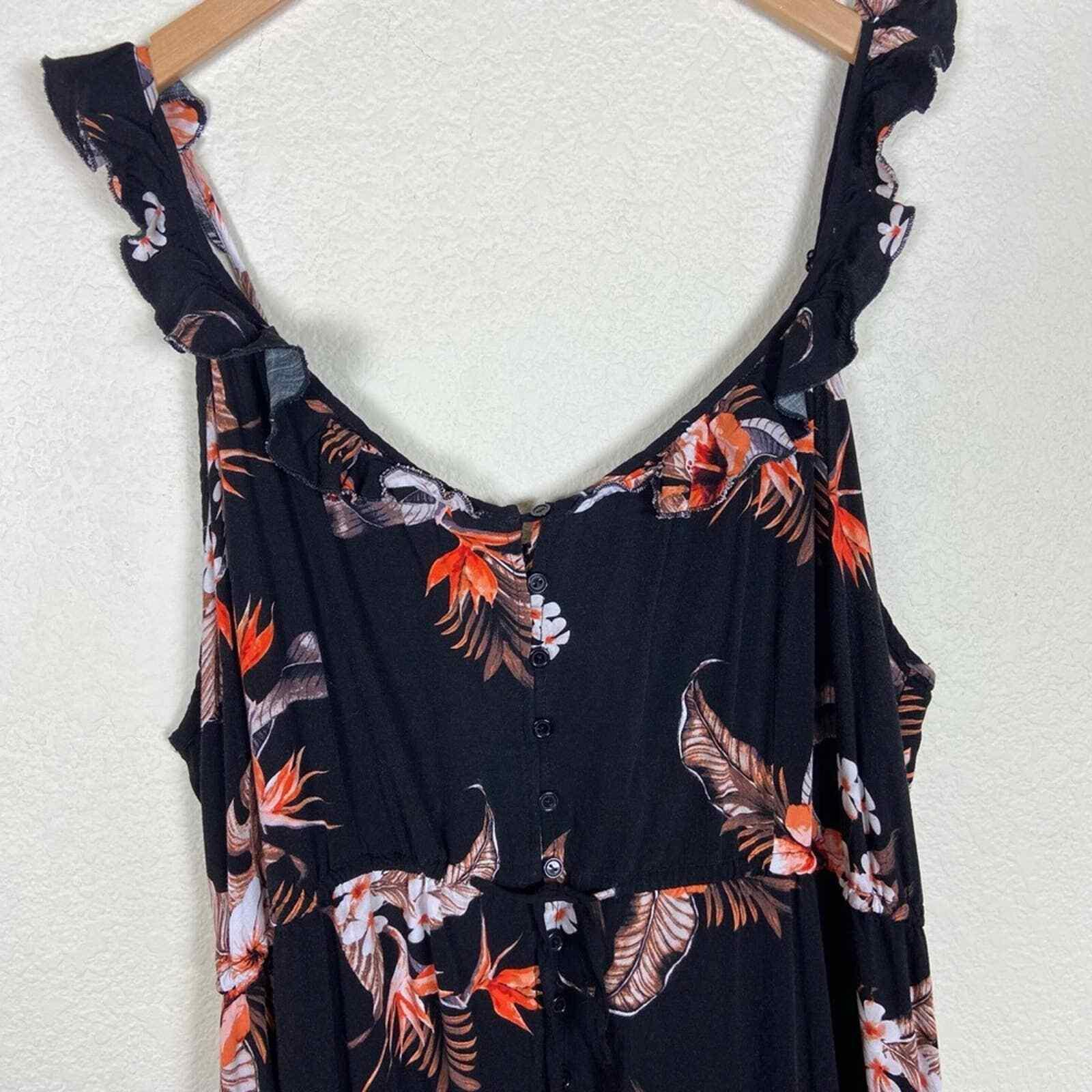 City Chic Seville Black Floral Swing Midi Dress - image 4