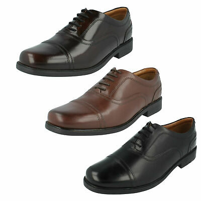 MENS CLARKS LEATHER TOE CAP WIDE OFFICE
