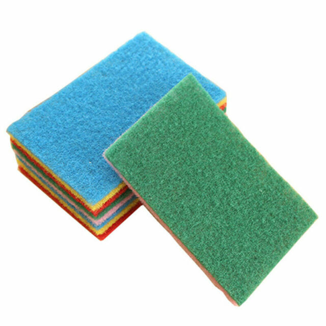 Sponge Eraser Cleaning Towel Cloth Kitchen Dish Foam Pads Scourer Cleaner F4S6