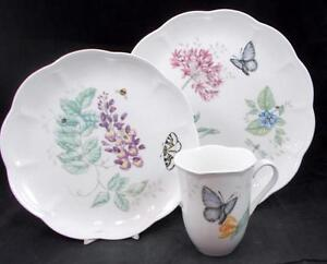 Lenox-China-BUTTERFLY-MEADOW-Trio-Eastern-Tailed-Blue-VERY-GOOD-CONDITION