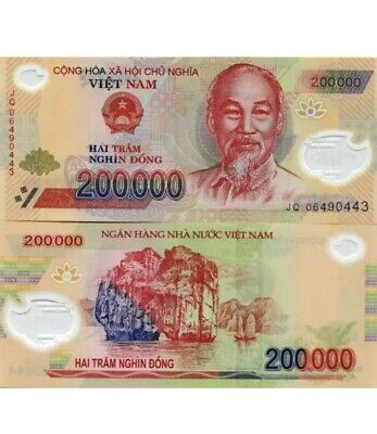 - VND ONE MILLION VIETNAM DONG CURRENCY 200,000 Notes 5 FAST DELIVERY