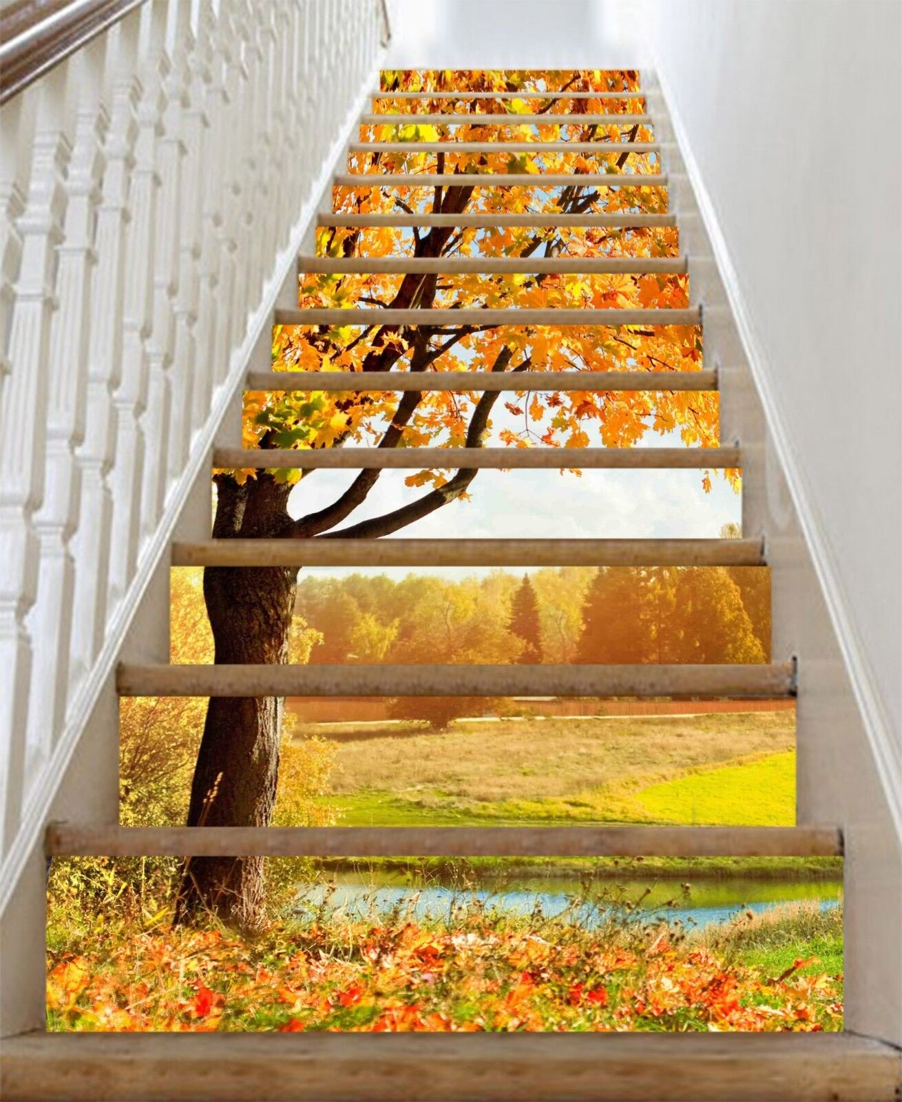 3D Schöner Baum 298 Stair Risers Dekoration Fototapete Vinyl Aufkleber Tapete DE